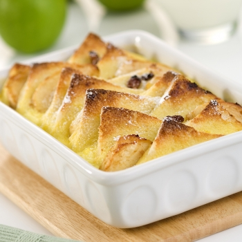 Bread and apple pudding image