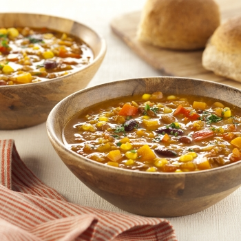 Chunky lentil and vegetable soup