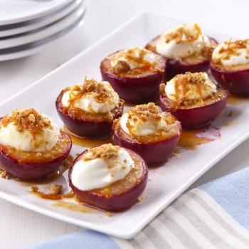 Baked plums