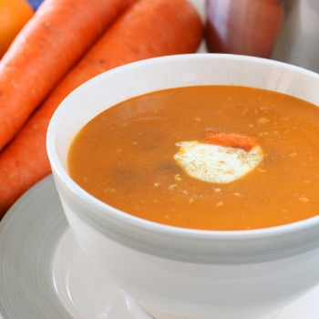 carrot and orange soup image
